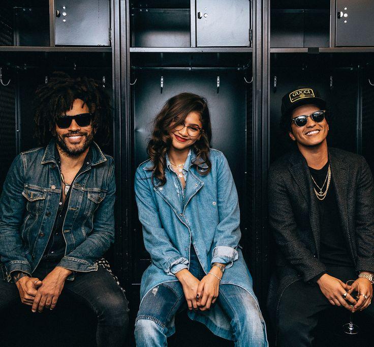 """Bruno Mars (@brunomars) on Instagram: """" New Band Alert!! Lenny, Zendaya & Bruno. Together we are #LenZuno! ✊️✊️✊️"""""""