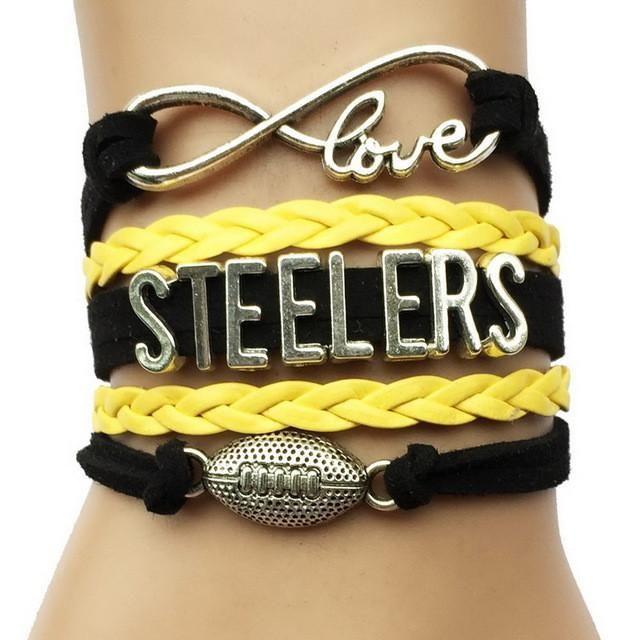 On my Shopify store : Steelers Team Bracelet http://treasure-and-trash.com/products/steelers-team-bracelet?utm_campaign=crowdfire&utm_content=crowdfire&utm_medium=social&utm_source=pinterest