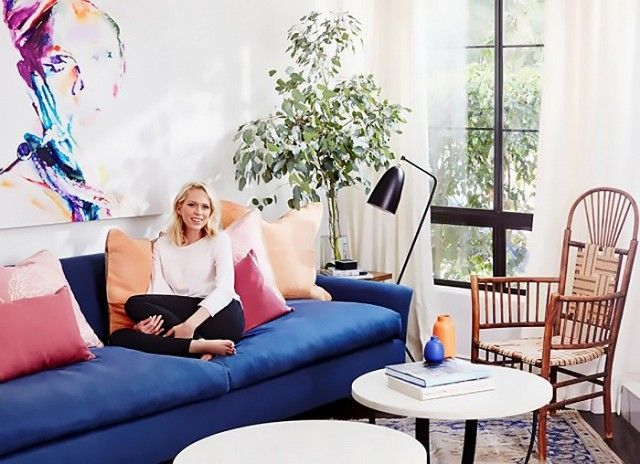 Erin Foster's bright and modern living space