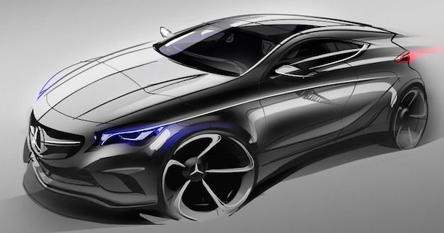 Mercedes A Class Sketch Rendering by Mercedes