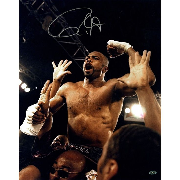 Steiner Roy Jones Jr. Signed Celebrating vs. Louis News 16x20 Vertical Photo