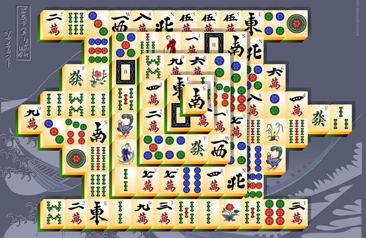 Mahjong Game http://freegames.ws/games/boardgames/mahjong/freemahjong.htm  Mahjong tiles, Mahjong