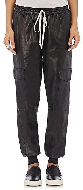 Robert Rodriguez WOMEN'S LEATHER JOGGER PANTS
