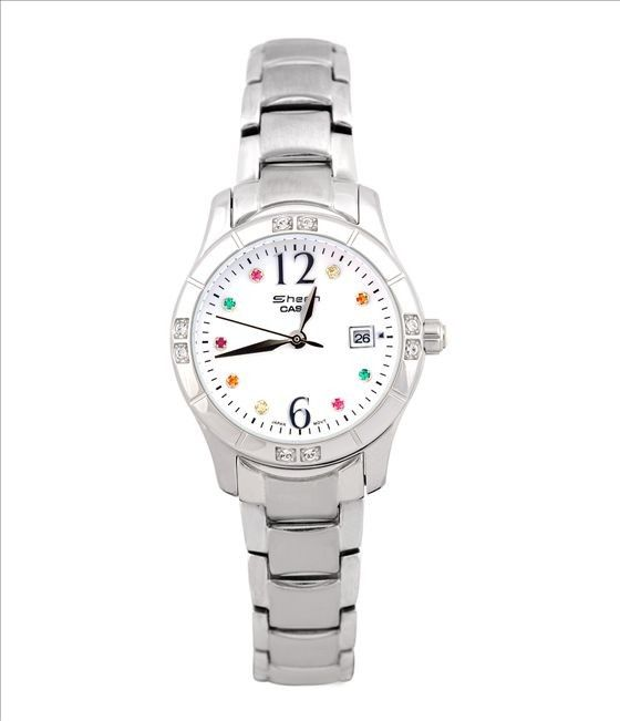 Succinctly Naturally Sheen SHN-4017L-7A Colorful Crystal Women Watch -commodityocean.com