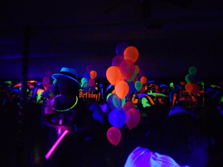 blacklight decorations