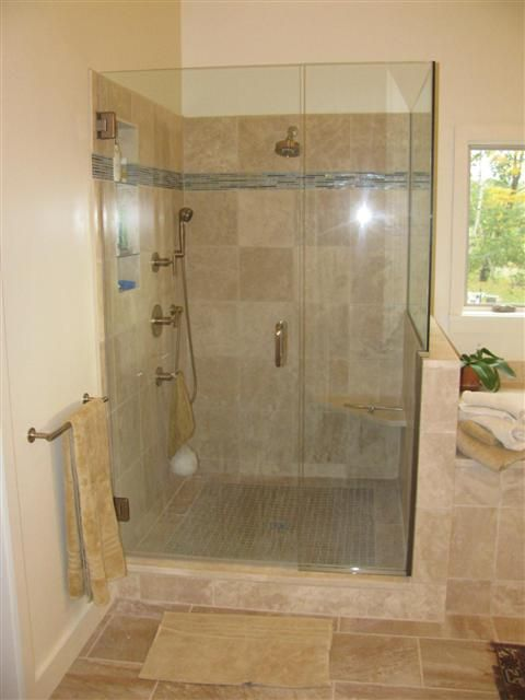 Custom Walk In Showers   Custom Tiled walk in showers pictured above and  below. 17 Best images about Walk in showers on Pinterest   Contemporary