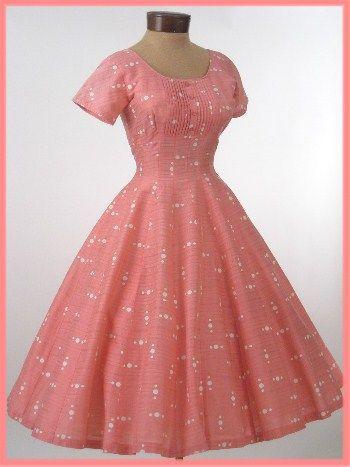 Vestido de oscilación de la vendimia 1950 del lunar de princesa Dress-50 - Blue Velvet Vintage
