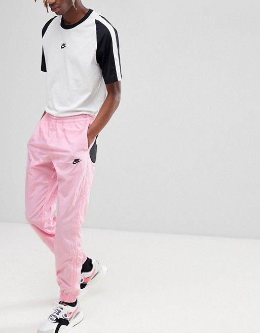 1d2e5473b76b Nike Vaporwave Joggers With Large Swoosh In Pink AJ2300-686