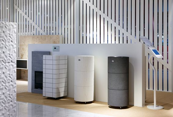 New sauna heaters in Tulikivi showroom at Habitare Exhibition.