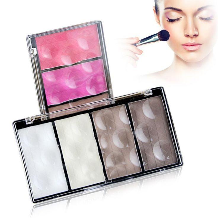 Super maquiagem Shading destaque pó compacto paleta corretivo Bronzer 8 cores alishoppbrasil
