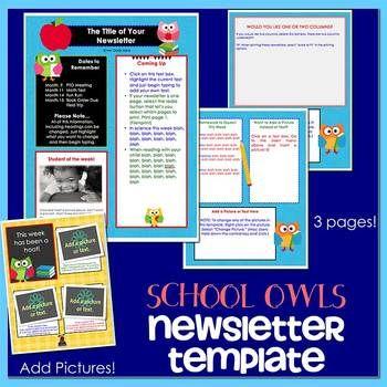 OWLS SCHOOL - Newsletter Template WORD