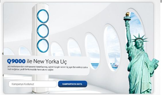 Q9000 ile New York'a uç   1 Mayıs- 30 Temmuz 2014 tarihleri arasında 2014 model Q9000 klima alanlar NewYork'a uçuyor.