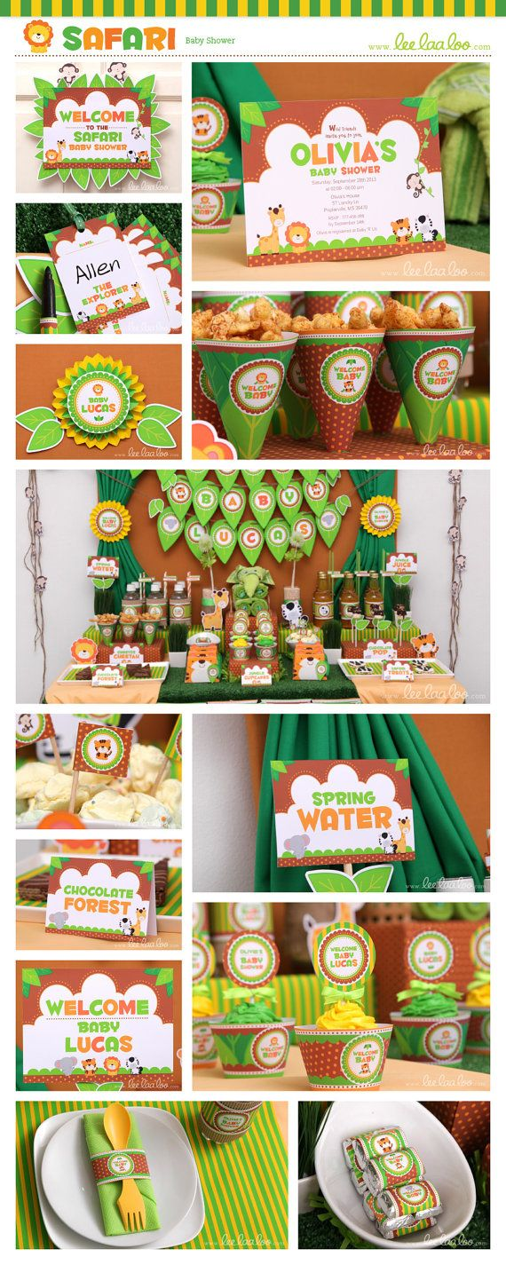 Baby animal/jungle theme party