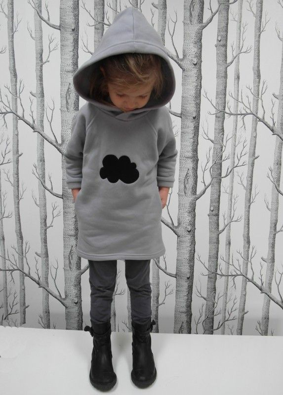 Hoodie dress with cloud application