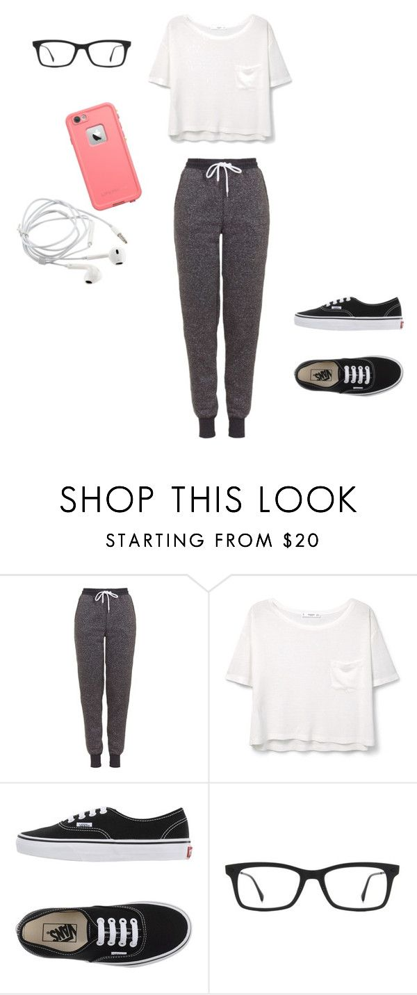 Untitled #20 by jaimelauren ❤ liked on Polyvore featuring Topshop, MANGO, Vans, Ray-Ban, LifeProof, women's clothing, women, female, woman and misses