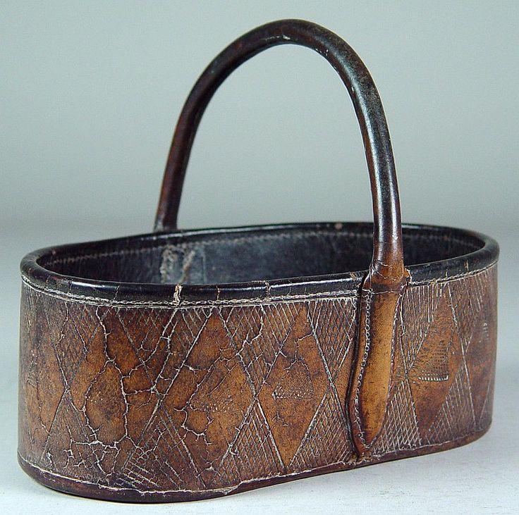 Leather Key Basket