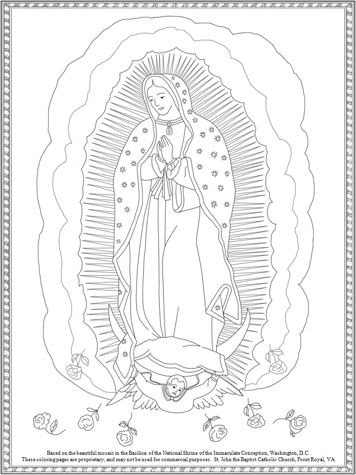 Our lady of guadalupe free coloring pages coloring pages for Virgen de guadalupe coloring pages