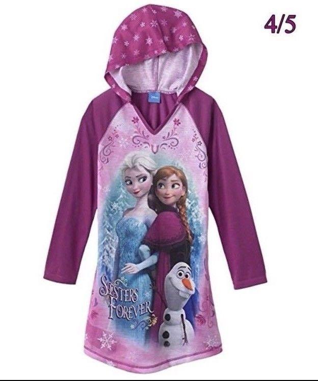 Disney Frozen hooded one piece nightwear  age 5//6 years