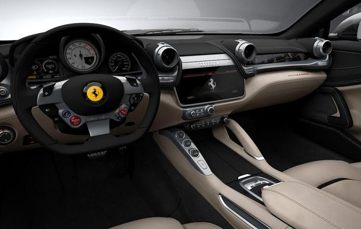 Driver's view: racing gauges and steering wheel.