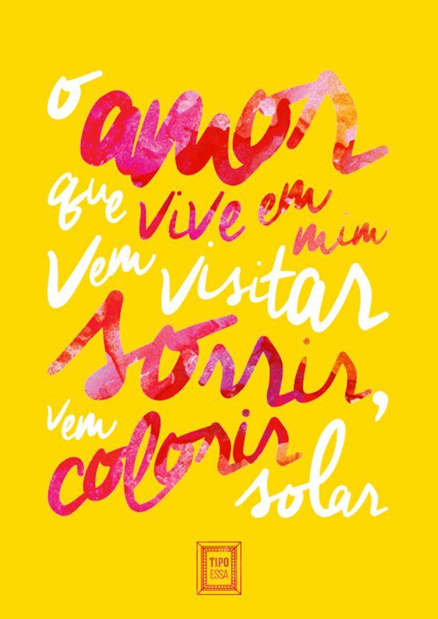 """Projeto """"Tipo Essa"""" transforma letras de músicas em cartazes tipográficos;"""