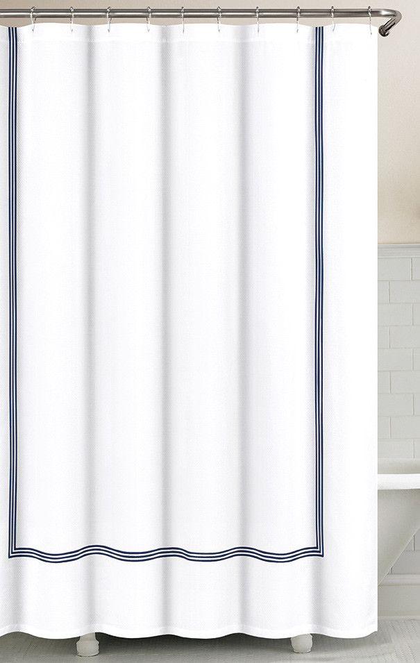 Three Line Hotel Shower Curtain