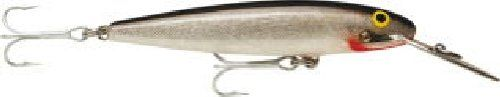 """Rapala CountDown (Silver) Color: Silver.. Length: 4-3/8"""".. Weight: 7/8 oz.. Two No. 1 Hooks.. Super touch Abachi wood construction."""