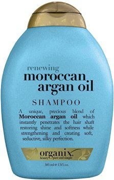 Organix Moroccan Argan Oil Shampoo Organix Moroccan Argan Oil Shampoo 385ml A unique, precious blend of Moroccan Argan Oil which helps to instantly penetrate the hair shaft restoring shine and softness while helping to strengthen and  http://www.MightGet.com/january-2017-12/organix-moroccan-argan-oil-shampoo.asp