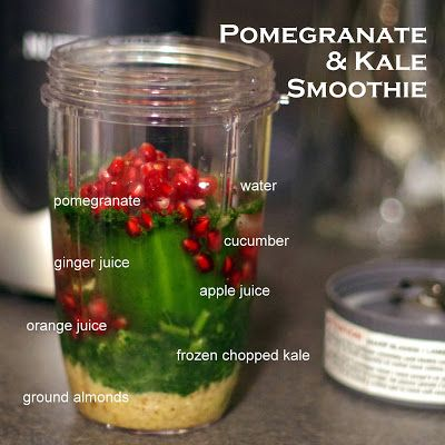 Pomegranate and Kale Smoothie #magic #cancerfighter #healthy