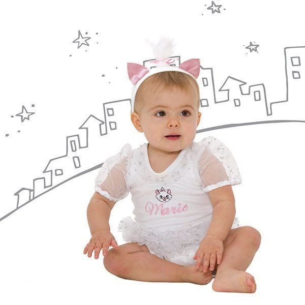 Disney Baby The Aristocats Marie Tutu and Headband - www.totswarehouse.com The Disney Baby Marie Tutu is a lovely dress up item for any little baby girl.  The dress is beautifully decorated with sparkly mesh tutu, sleeves & frill and Marie embroidery detail.  Easy to put on baby with popper fastening.  Comes complete with matching headband.  Machine Washable  #disney #tutu #baby