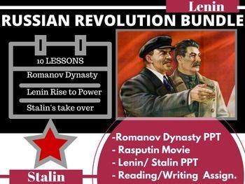 Russian Revolution Bundle Romanov Lenin-Stalin PPT 10 lessons World HistoryThis is the best way I know how to teach one of the most confusing chapters in World History. THE SECOND SEMESTER OF WORLD HISTORY THE WHOLE YEAR OF WORLD HISTORY DAY 1 AND 2: I start with a slide show of the Romanov Dynasty.