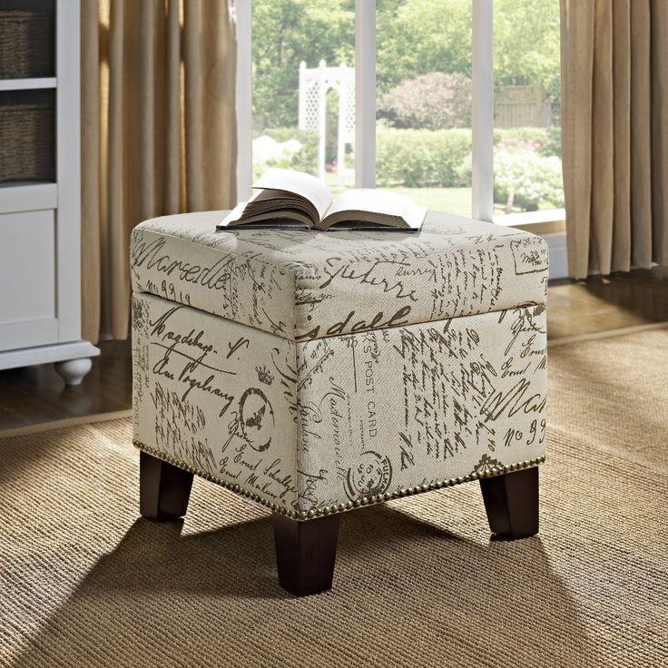 Amazoncom Dorel Asia Script Cube Ottoman