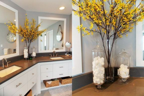 45 Unusual Facts About Yellow And Grey Bathroom 250 Pecansthomedecor Com In 2020 Yellow Bathroom Decor Yellow Bathrooms Yellow Grey Bathroom
