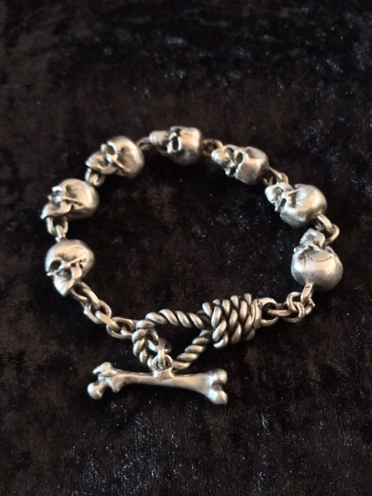 Bracelets Bangle FOB Biker Silver Heavy Men/'s Punk Rock Gothic CHAIN 925 SOLID