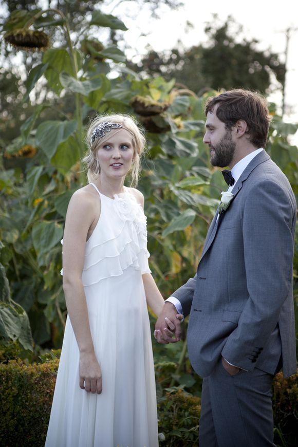 An Ugo Zaldi Wedding Dress For A DIY Orchard Farm Wedding....