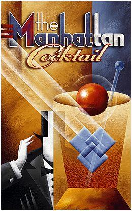 Michael Kungl Art ~ The Manhattan Cocktail ~ Art Decó