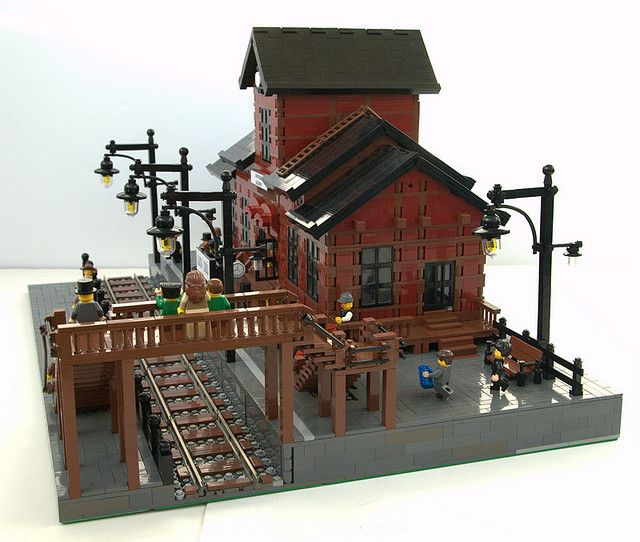 #LEGO Train Station.  There are a lot of train stations out there but I like this one for the platform and attn to detail.