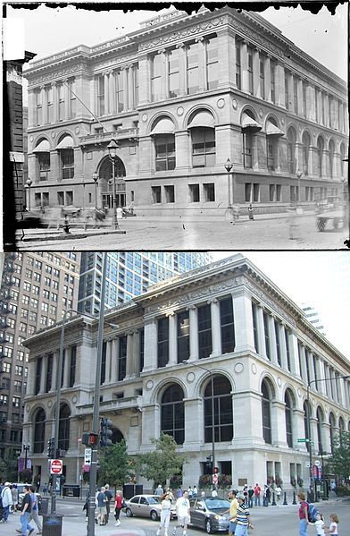 1980 best old chicago images on pinterest chicago chicago filethen and now chicago public library chicago cultural center 245007399g malvernweather Choice Image
