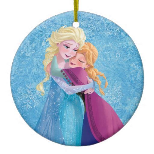 Anna and Elsa Hugging Ornaments #Disney #FRozen