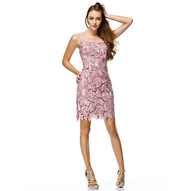 For one of the senior events (Luncheon, tree lighting, liturgy) TS+Couture®+Cocktail+Party+Dress+-+Pearl+Pink+Sheath/Column+Scoop+Short/Mini+Lace+/+Polyester+–+USD+$+99.99
