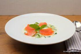 Schöner Tag noch! Food-Blog mit leckeren Rezepten für jeden Tag: Geeiste Gurkensuppe mit Lachs
