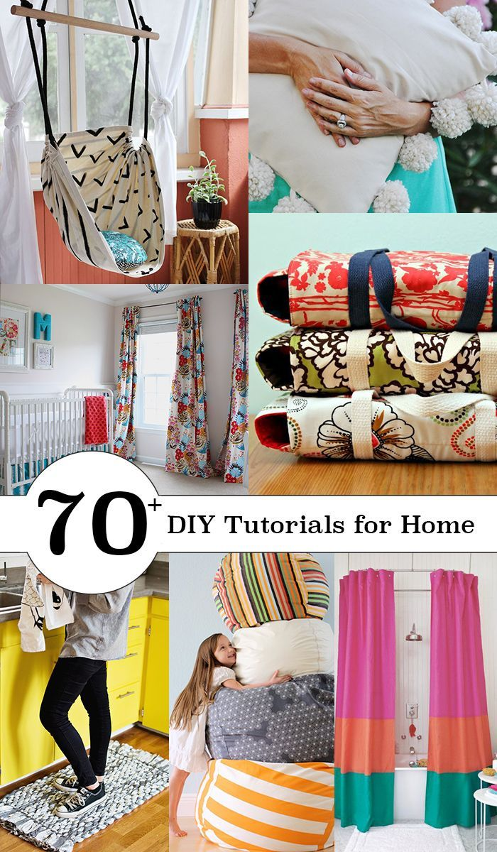 Over 70 tutorials! Make & sew for your home. Check them all out!: