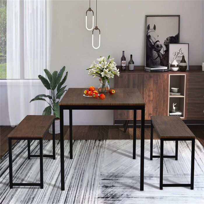 Charlidh 3 Piece Dining Set In 2021 Dining Room Furniture Modern Kitchen Table Settings Dining Table Setting