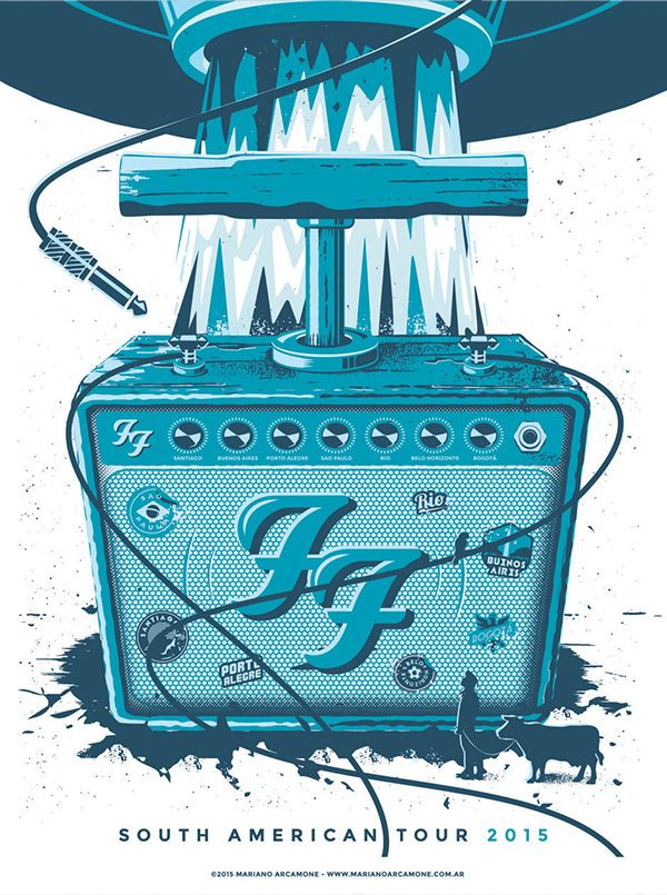 Foo Fighters Poster - South American Tour on Behance