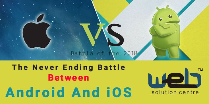 The Never Ending #Battle between Android and iOS | The expert #mobiledevelopers of a renowned #WebDesigningCompany in Delhi are here with an intriguing comparison between #Android and #iOS. Take a look.