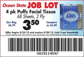 Job lot internet coupons
