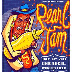 Pearl Jam - 2013 Munk One Pearl Jam Wrigley Field Chicago hot dog poster print