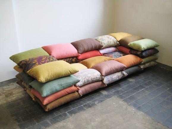 Cushionised sofa (courtesy of Christiane Hoegner designs)