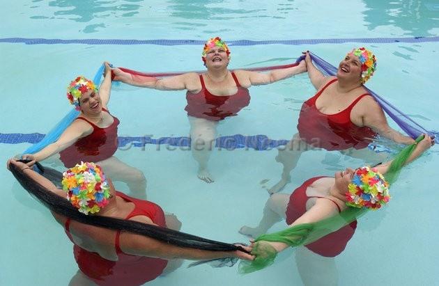 Fat Woman Swimming 100