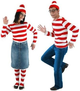 waldo and wenda modest couples costume - Modest Womens Halloween Costumes