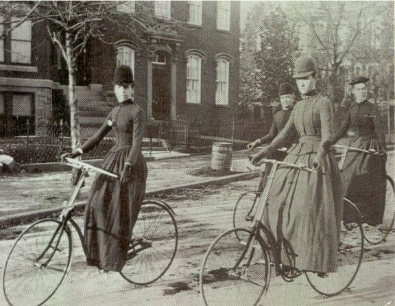 """""""Let me tell you what I think of bicycling. I think it has done more to emancipate women than anything else in the world. It gives women a feeling of freedom and self-reliance. I stand and rejoice every time I see a woman ride by on a wheel…the picture of free, untrammeled womanhood."""" Suffragette Susan B. Anthony, 1896."""